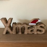 Wooden Xmas Word Decoration