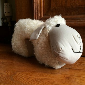 Woolly White Sheep Doorstop